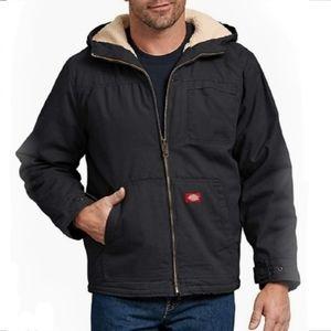 Dickies Men's Sanded Duck Sherpa Lined Hooded Coat